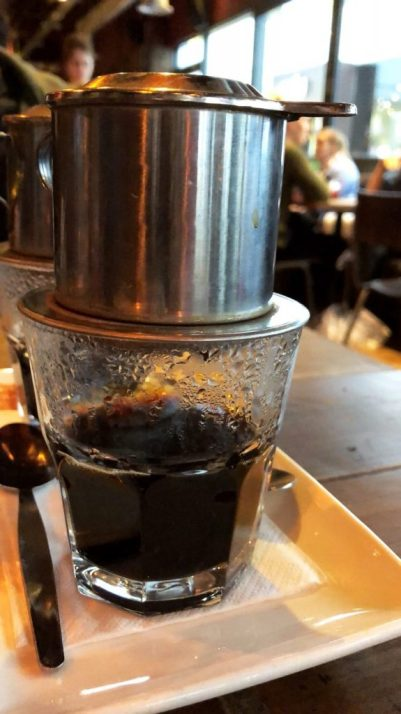 Vietnamese coffee made with a dripper tool: glorious - 10/10