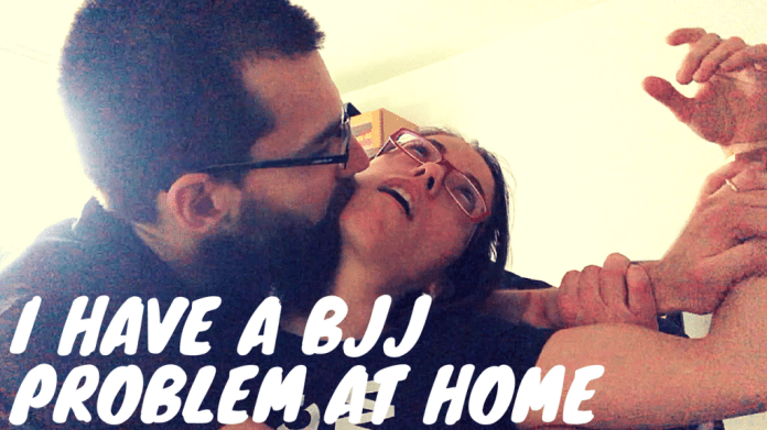I HAVE A BJJ PROBLEM AT HOME, dailypinner vlog THUMBNAIL
