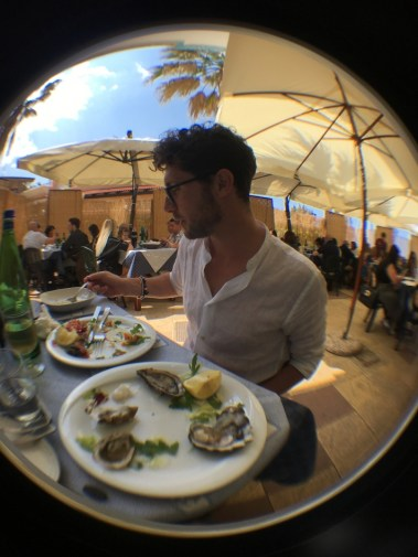 Antonio and Raw seafood in Giovinazzo