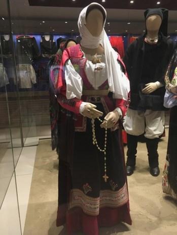 Nuoro traditional costume in ISRE Museo Etnografico Nuoro