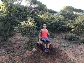 I'm the running princess of the pine forest at Ugolio