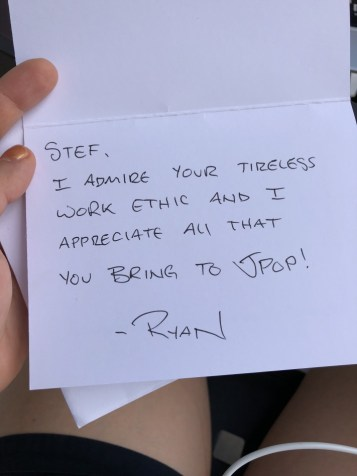 My colleague Ryan gave me this hug/appreciation card to me <3