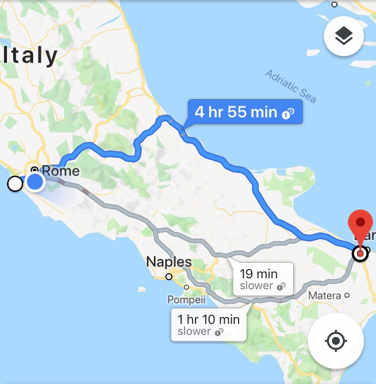 Roma-Modugno christmas pilgrimage