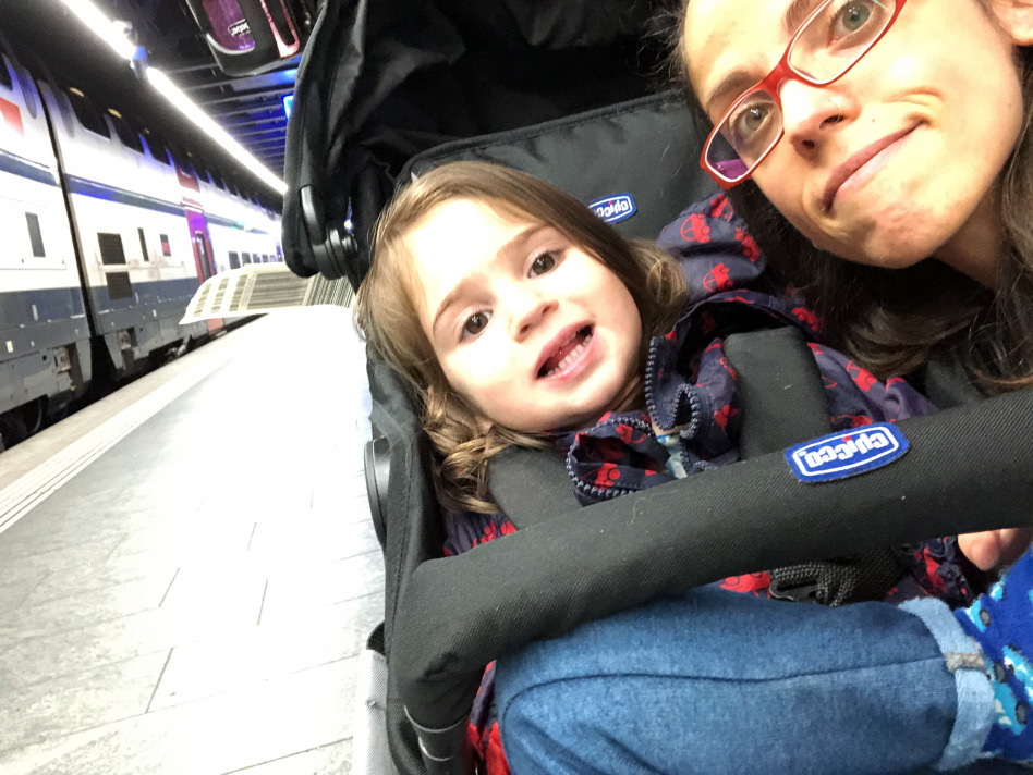travelling with a toddler  - station
