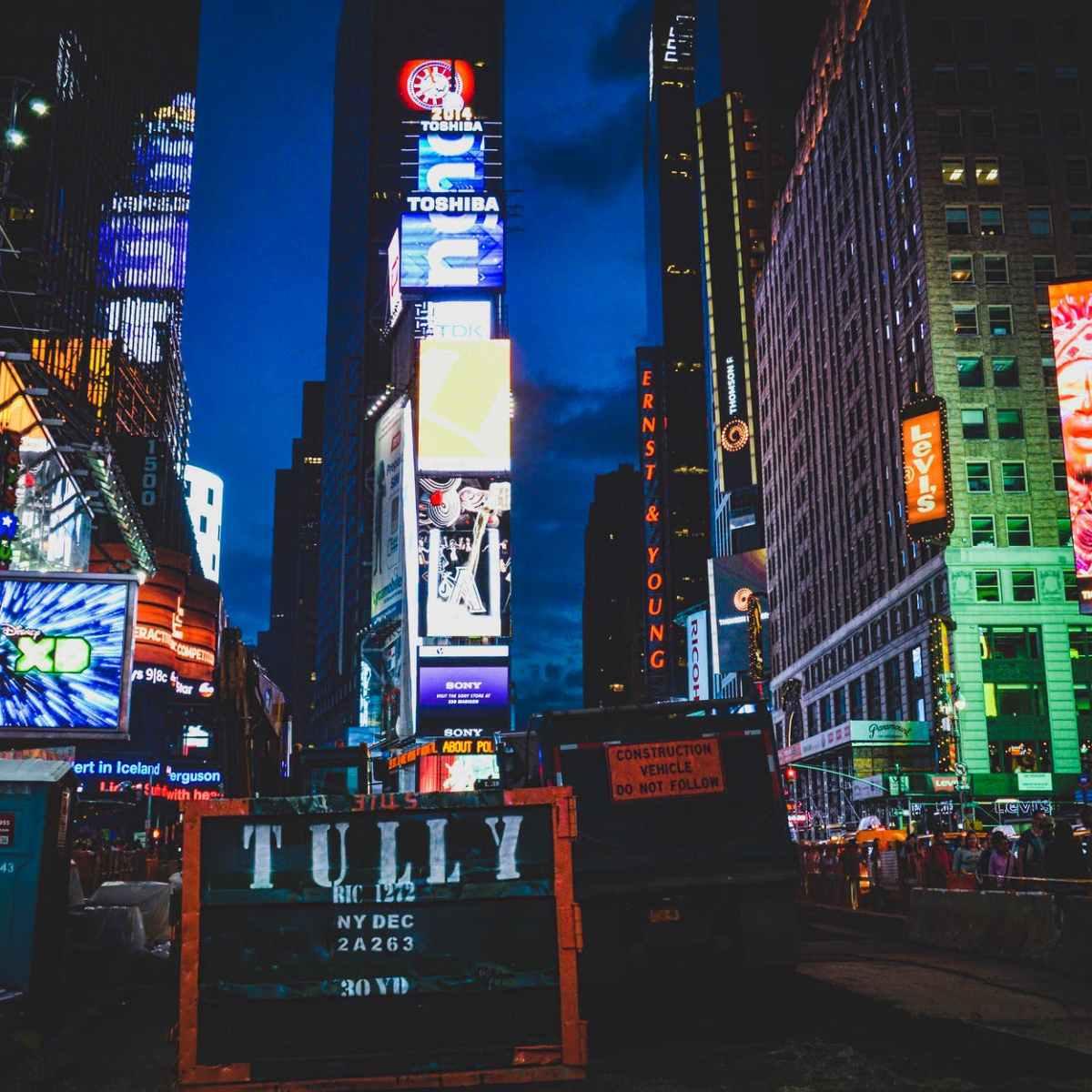 lit billboards photo