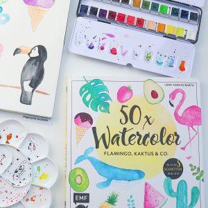 50x_Watercolor_Tutorial_Buch
