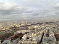 Paris from the Eiffel Tower (December 2012)