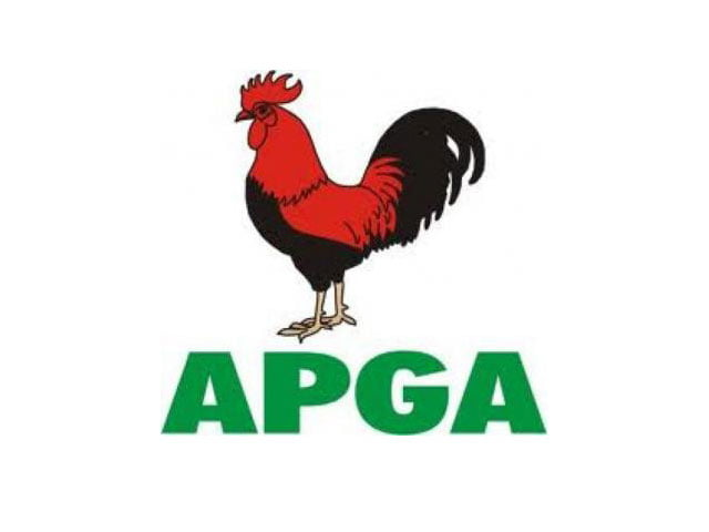 APGA Logo - APGA condemns alleged invasion of its secretariat by Nkem Okoro-led faction in Abia