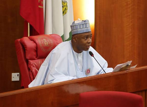 Image result for Saraki sneaks into National Assembly, leads defection