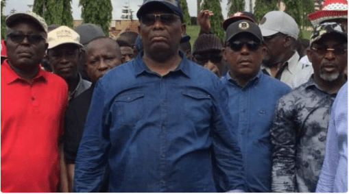 Image result for PDP Chairman leads protesters to NASS over 'assault' on Fayose