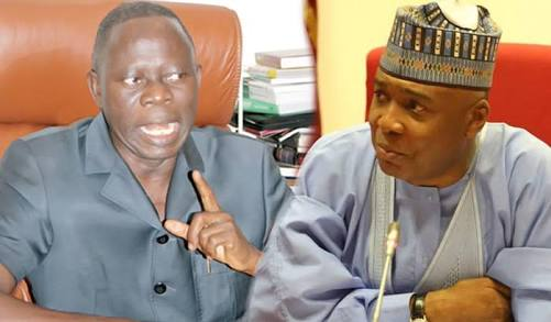 Image result for Oshiomhole to Saraki: