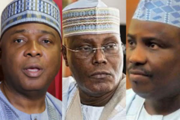 Image result for What Atiku, PDP leaders did during meeting abroad – Presidency
