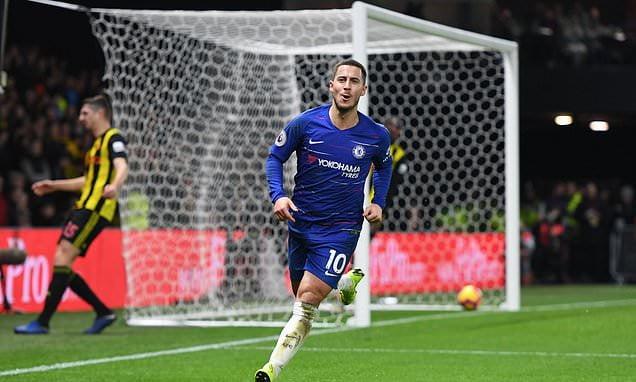 Hazard Watford Dec2018 - EPL: Chelsea forward demands Hazard's number 10 shirt, with Belgian set for Real Madrid
