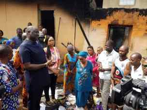 Image result for Ugwuanyi donates N6m to Christmas day fire disaster victims