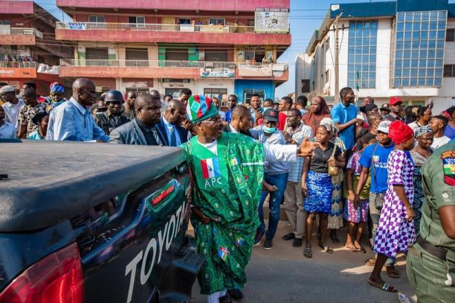 Image result for governor ajimobi helps accident victims