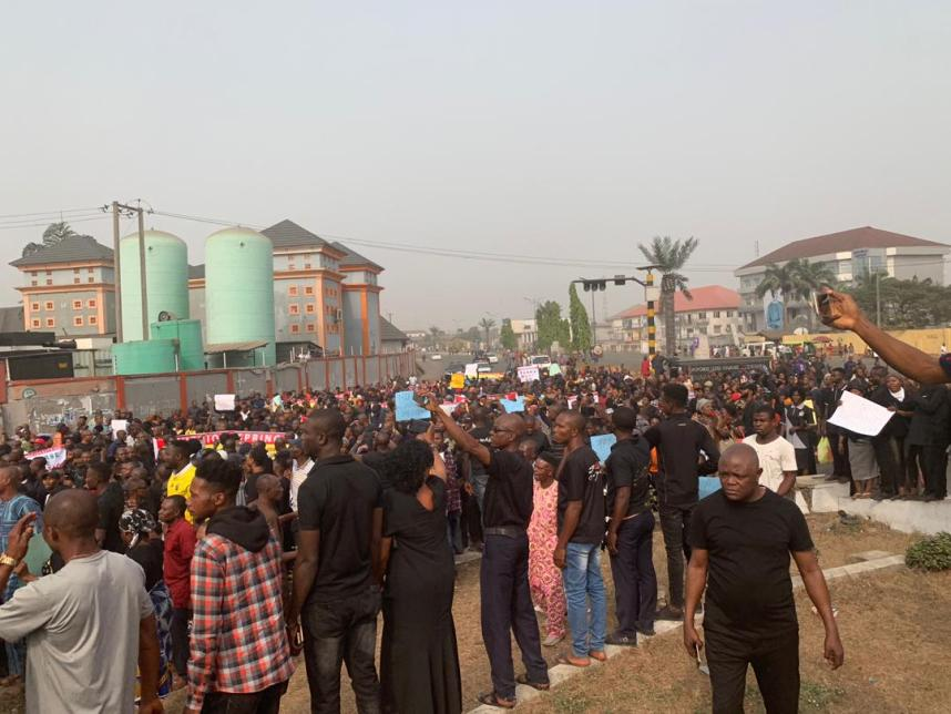 Ihedioha: Massive Protest Rocks Imo State, Others 1