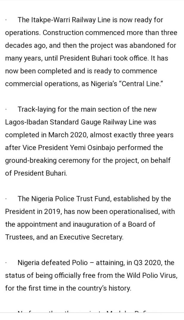 BC0E5B04 BBC8 4A67 82E5 77B3BB6FF661 - Buhari lists CAMA, 774,00zero jobs, NYSC allowance, others as second-term achievements [Full list]