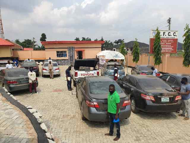 Cars recovered from them - Alleged fraud: EFCC nabs 3 corps members, 19 undergraduates, 10 others [Photos]