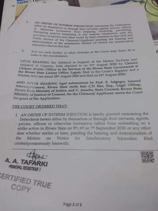 IMG 20200904 WA0026 - Rivers government obtains court order to stop NLC, TUC protest