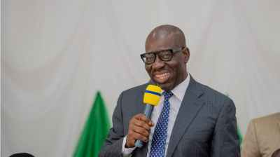 Gov. Obaseki reacts to his reelection, commends Buhari, INEC