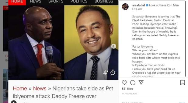 charlie boy - Oyedepo: I'll make you my assignment - Charly Boy attacks Pastor Ibiyeomie