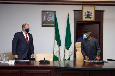 Top United States officials meet Osinbajo, make demand