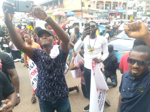 IMG 20201014 121300 243 scaled - End SARS protesters ground Awka, demand prosecution of ex-SARS boss, Nwafor