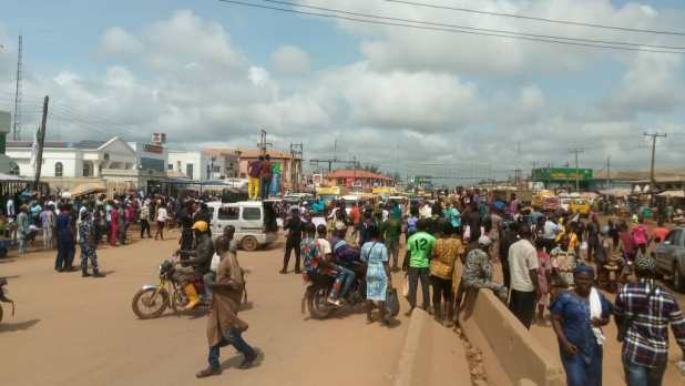 IMG 20201016 113341 - End SARS: Protest escalates, takes another dimension in Ogun [PHOTOS]
