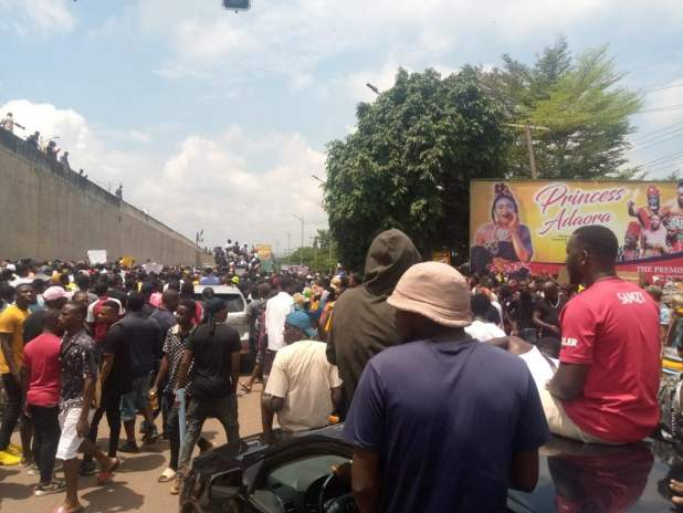 IMG 20201016 115418 817 1024x768 - End SARS protest continues in Anambra [PHOTO]