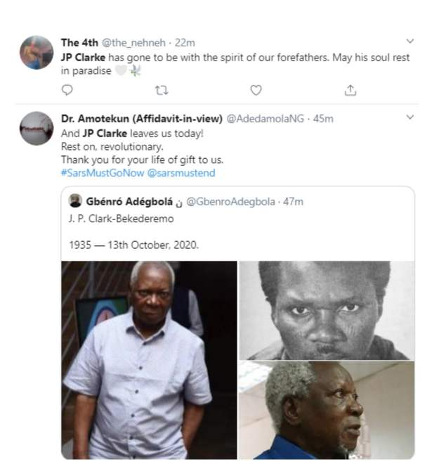 unnamed 26 - Foremost Nigerian poet J.P Clark is dead