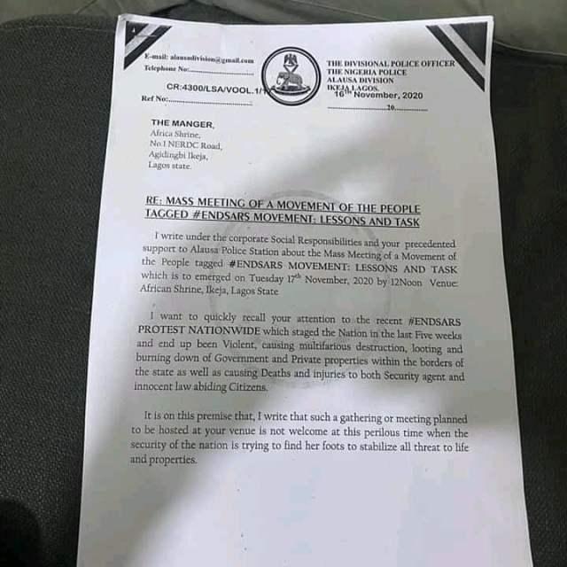 IMG 4286 - End SARS: Nigeria Police warns Femi Kuti over alleged meeting at Afrikan Shrine