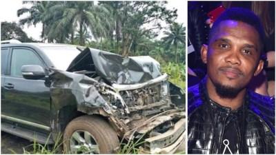 Samuel Eto'o involved in car crash