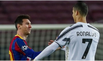 CL: What Ronaldo said about Messi after Juventus's 3-0 win over Barcelona