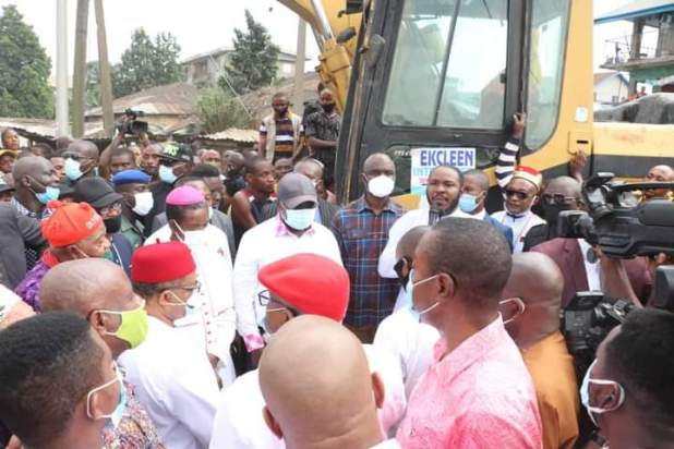 FB IMG 1610404692499 - Ikpeazu works on site, other leaders on Facebook - Abia PDP Chairman, Asiforo Okere