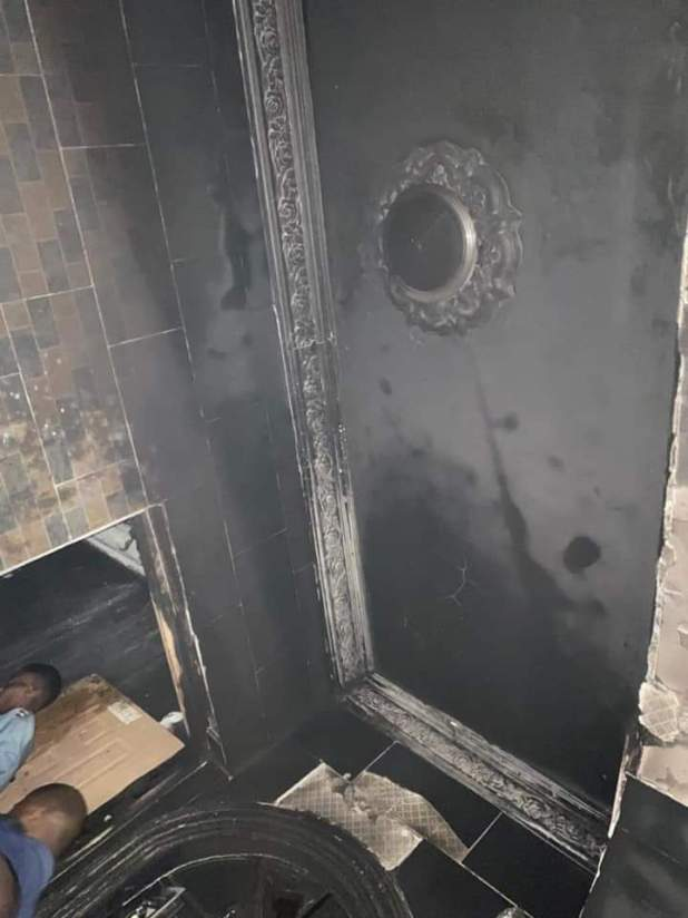 IMG 20210125 WA0133 - BREAKING: Sunday Igboho's house in Ibadan set ablaze [Photos, Video]