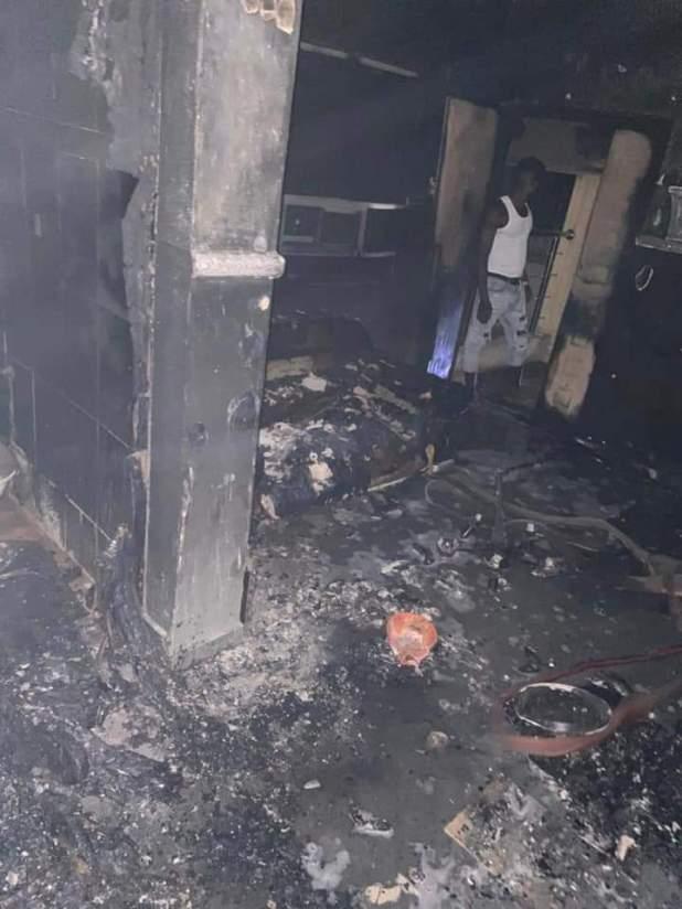 IMG 20210125 WA0135 - BREAKING: Sunday Igboho's house in Ibadan set ablaze [Photos, Video]