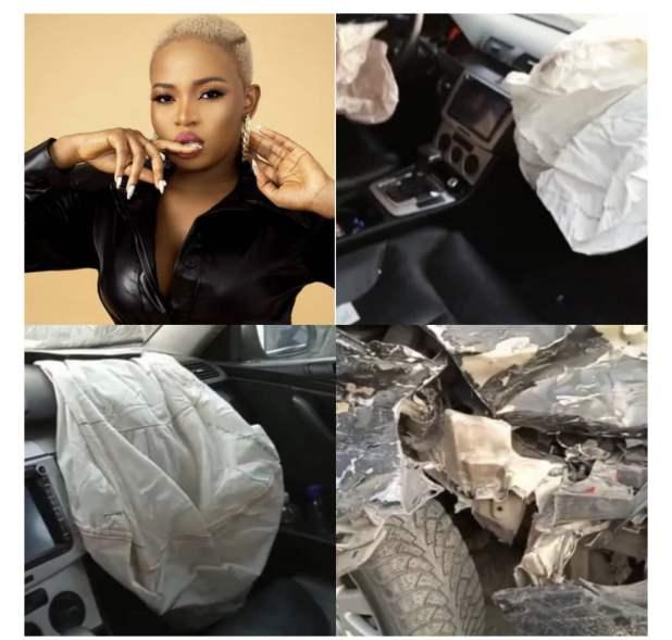 IMG 8733 - BBNaija's Cindy Okafor involved in ghastly motor accident