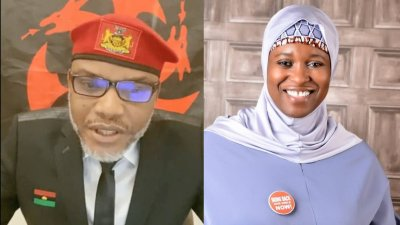 Aisha Yesufu replies Mazi Nnamdi Kanu, IPOB leader