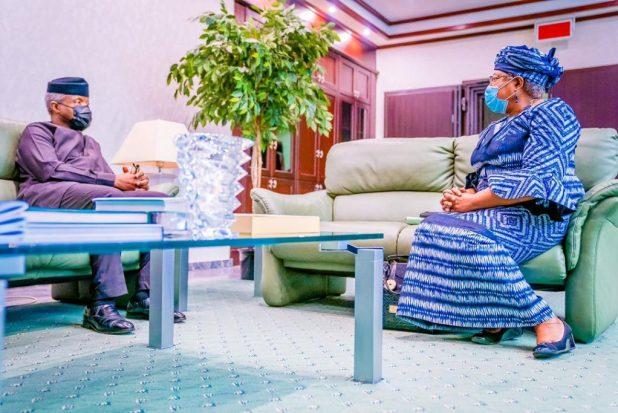 IMG 20210316 WA0014 1024x683 - Dr. Ngozi Okonjo-Iweala pays Vice President Yemi Osinbajo courtesy visit