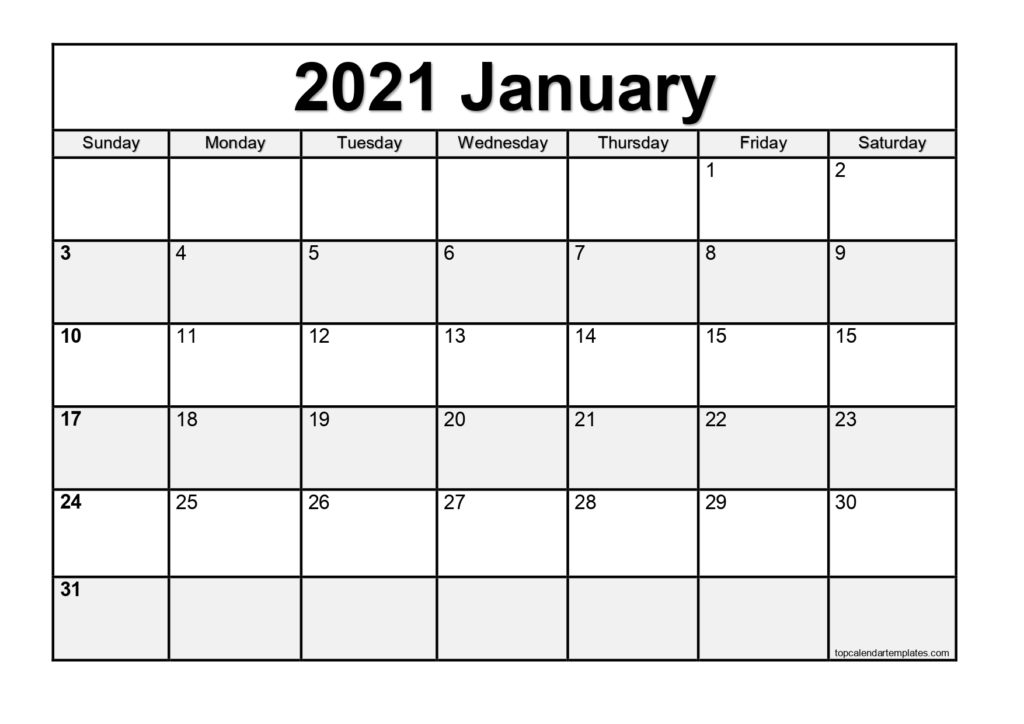 These include monthly calendars and even complete 2021 planners. Free January 2021 Calendar Printable Blank Templates