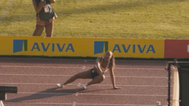 Trix Warren, Great Britain's greatest fictitious sprinter, goes down