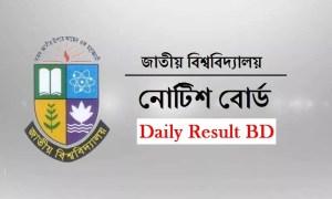 National University Notice Board 2019