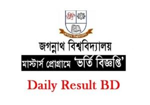 Jagannath University Masters Admission Circular & Result