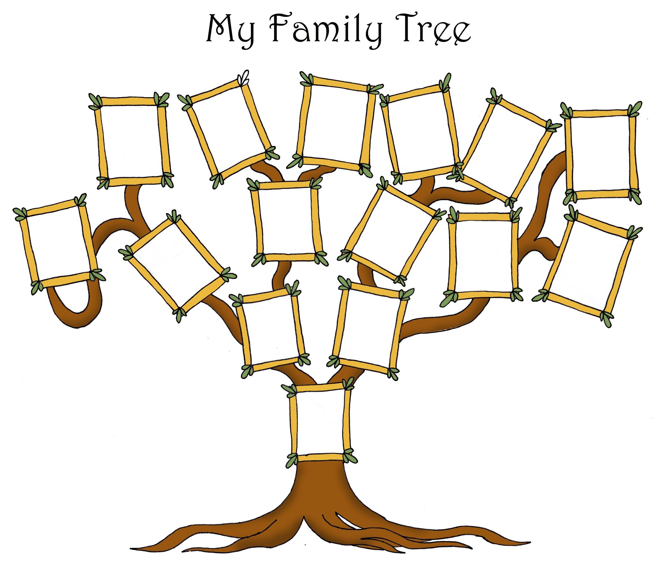 Free Editable Family Tree Template