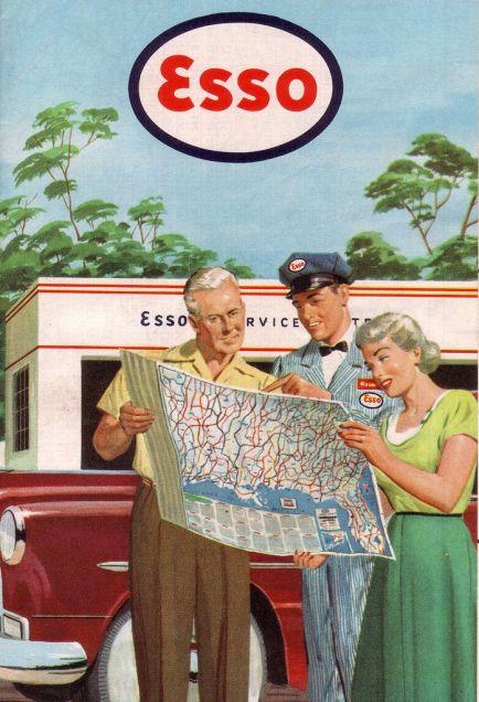 Vintage Road Maps