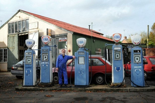 Pumps at Laurel Garage in Britain