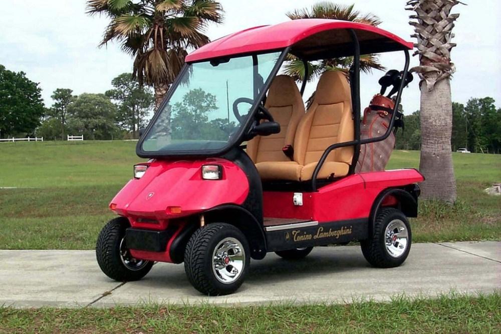 Lamborghini golf cart
