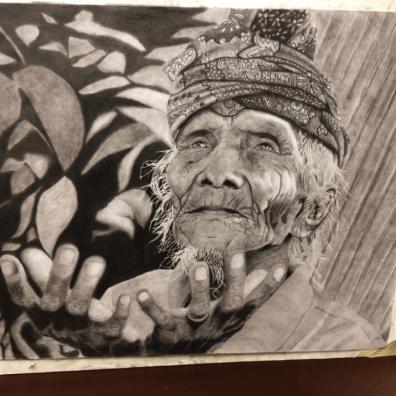 Another monochrome pencil drawing by Walker, Feb. 2018. (Noah Walker)