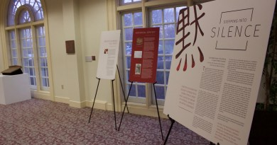 """Stepping into Silence"" at the Regent University Library in Virginia Beach, VA. (Jan. 13, 2017, Caroline Roberts)"