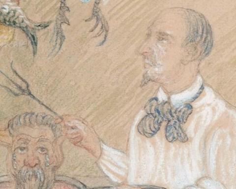 """Edmond Picard_detail des """"Cuisiniers dangereux"""" de James Ensor"""